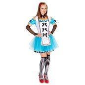 Classic Alice Adult with Thigh Highs, Glovelettes & Hair Clip Costume