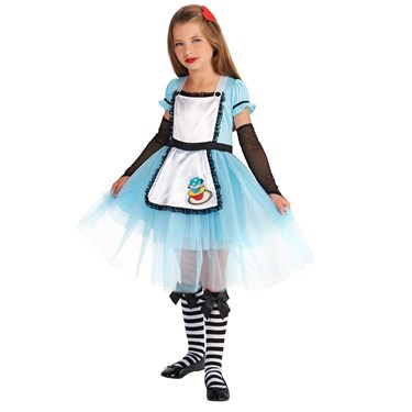 Classic Alice Child with Knee Highs & Hair Clip Costume
