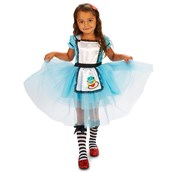 Classic Alice Toddler with Knee Highs & Hair Clip Costume