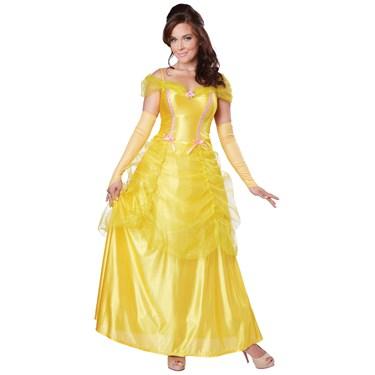 Classic Beauty Yellow Dress Adult Costume
