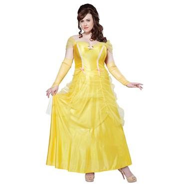 Classic Beauty Yellow Dress Adult Plus Costume