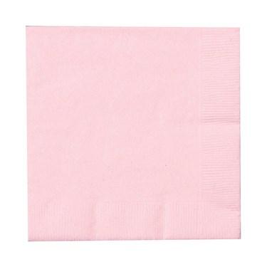 Classic Pink (Light Pink) Beverage Napkins (50 count)