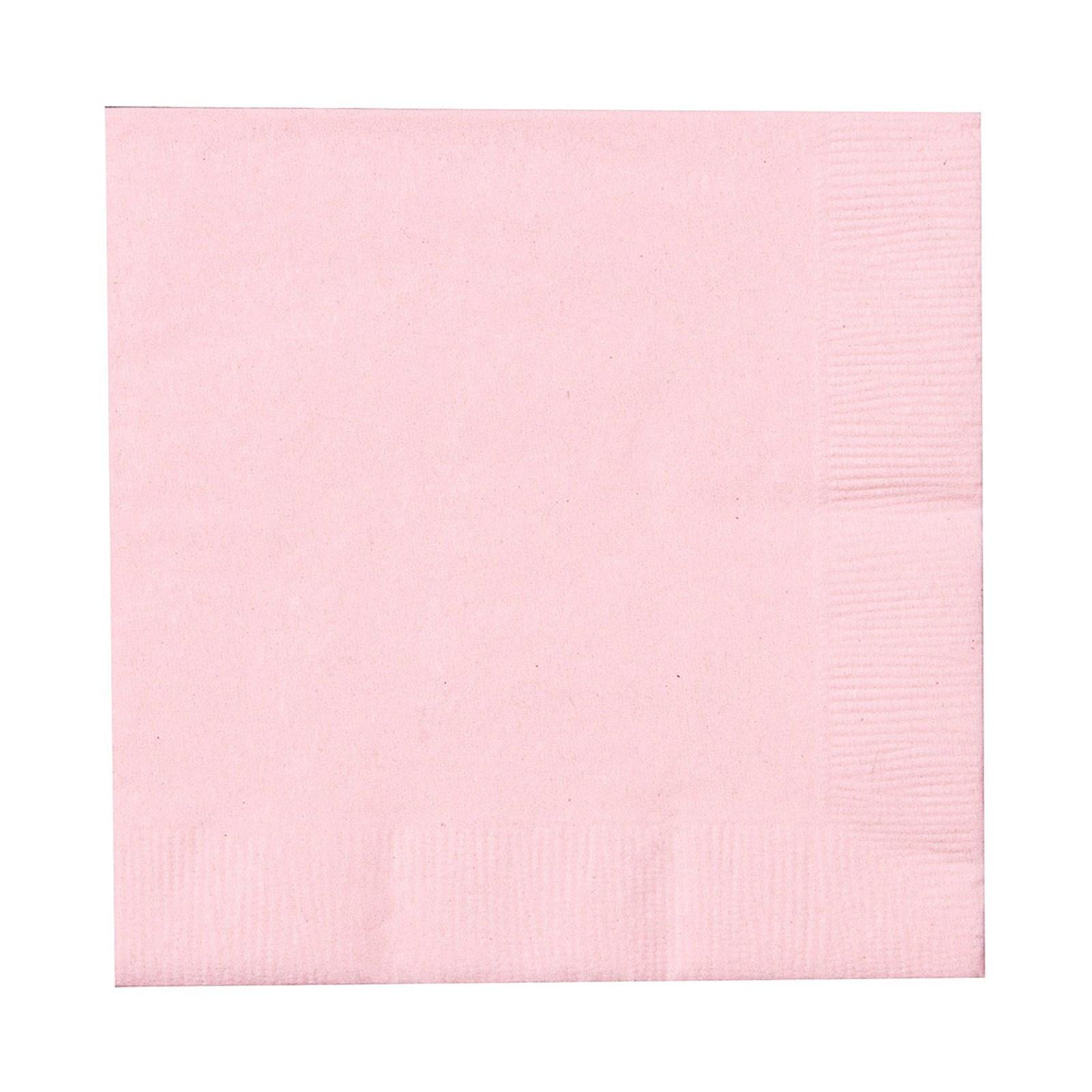 Classic Pink Light Pink Beverage Napkins 50 Count