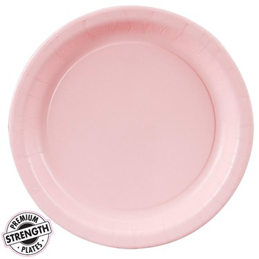 Classic Pink (Light Pink) Dessert Plates (24 count)
