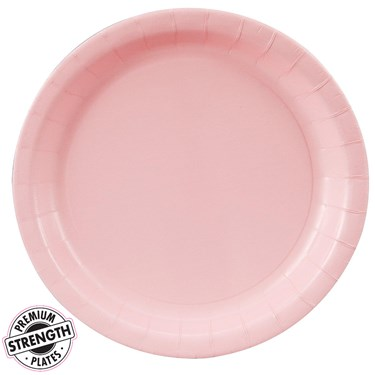 Classic Pink (Light Pink) Dinner Plates (24 count)