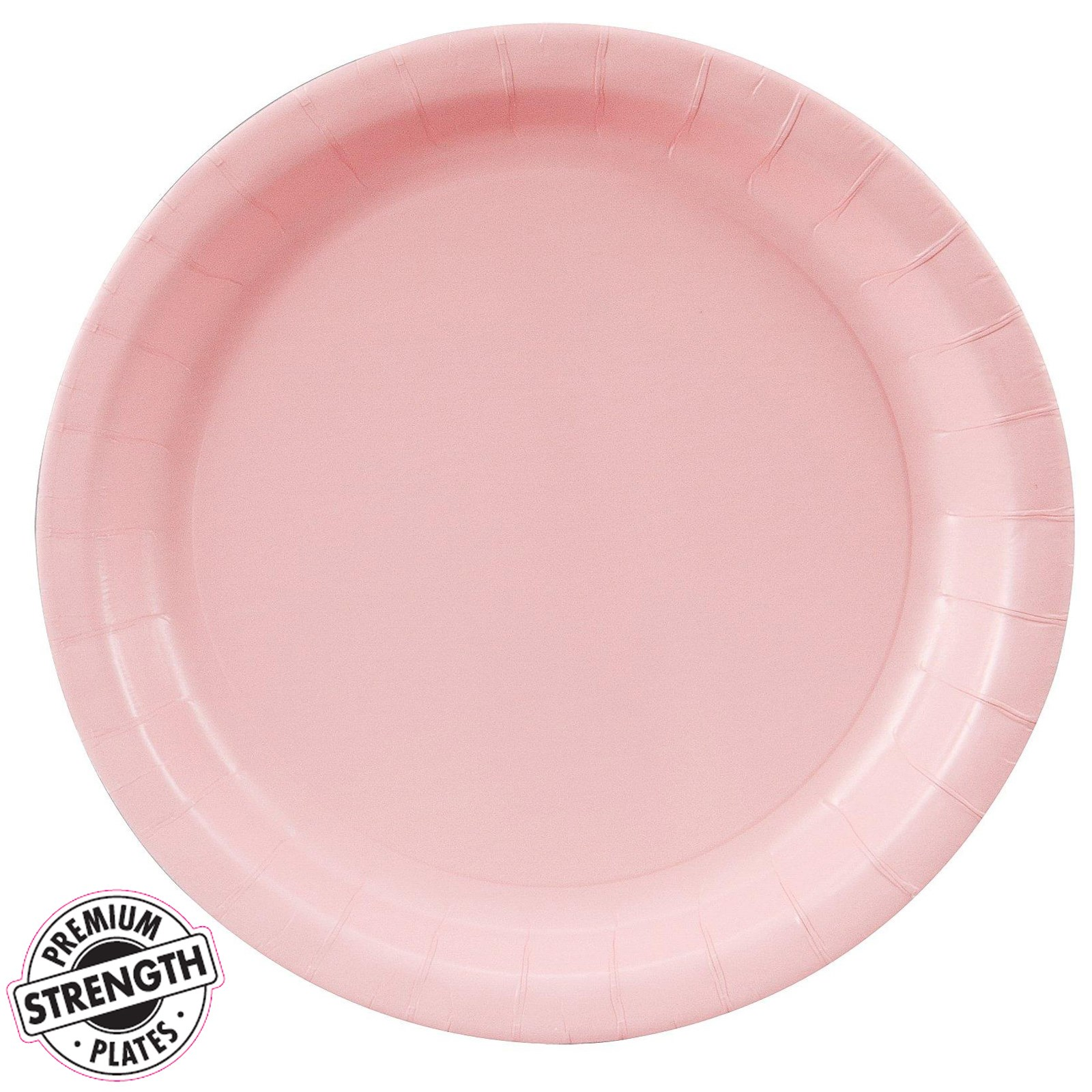 classic pink light pink dinner plates 24 count. Black Bedroom Furniture Sets. Home Design Ideas
