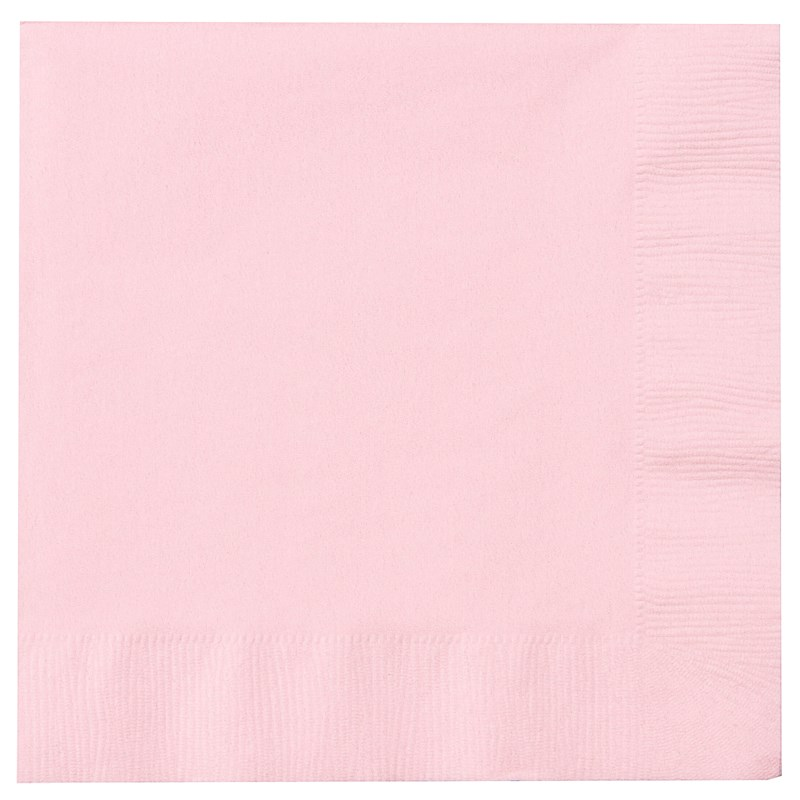 Classic Pink Light Pink Lunch Napkins 50 Count