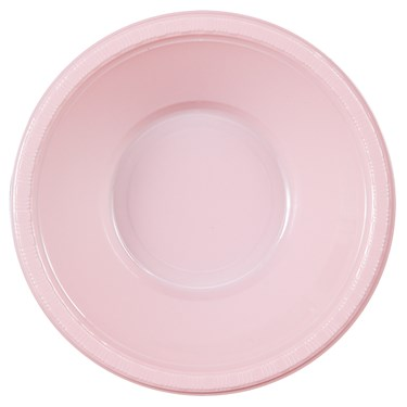 Classic Pink (Light Pink) Plastic Bowls (20 count)
