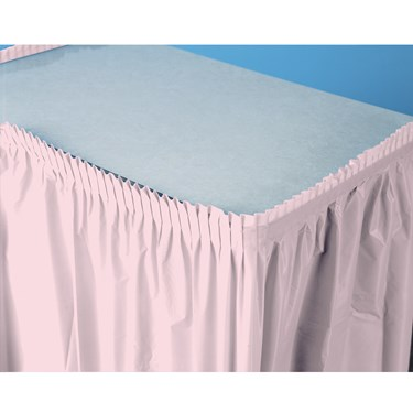 Classic Pink (Light Pink) Plastic Table Skirt