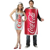 Coke & Diet Coke Couples Costume For Adults