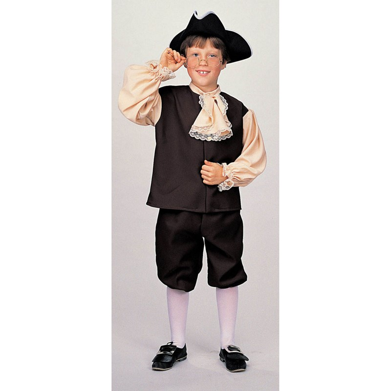 Kids Colonial Boy Costume- Brown: