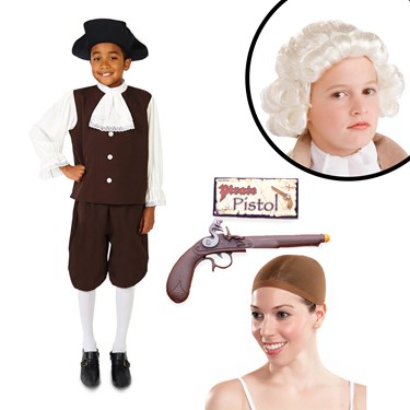 Colonial Boy with Jabot Child Costume Kit