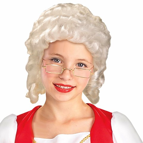 Colonial Girl Child Wig