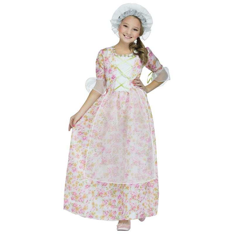 Colonial Lady Costume For Kids