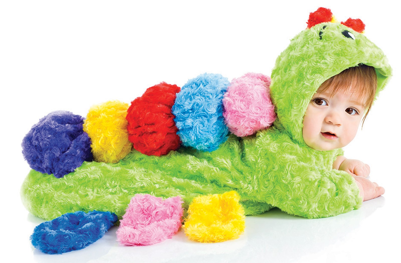 Colorful Baby Caterpillar Bunting Costume