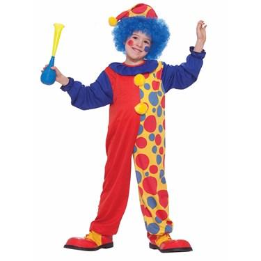 Colorful Clown Child Costume