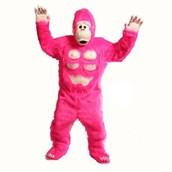 Comic Gorilla (Pink) Mascot Adult Costume