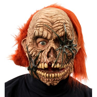 Corpse Zombie Full Mask w/ Red Hair
