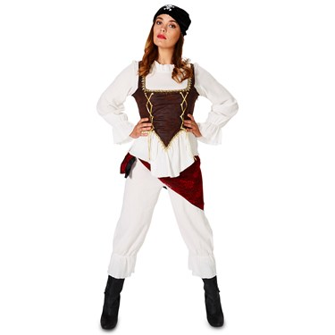 Corset Pirate Lady with Bloomers Adult Costume