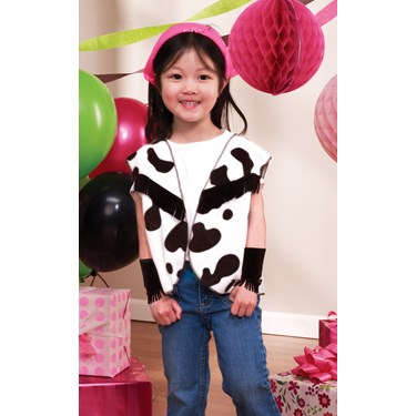 Cowgirl Vest and Wrist Cuffs Child