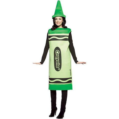 Crayola Green Crayon Adult Costume