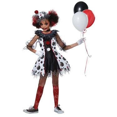 Creep Clown Girl's Costume