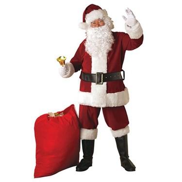 Crimson Regal Plush Adult Santa Suit