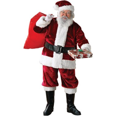 Crimson Regency Plush Adult Santa Suit