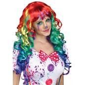 Curly Rainbow Costume Wig