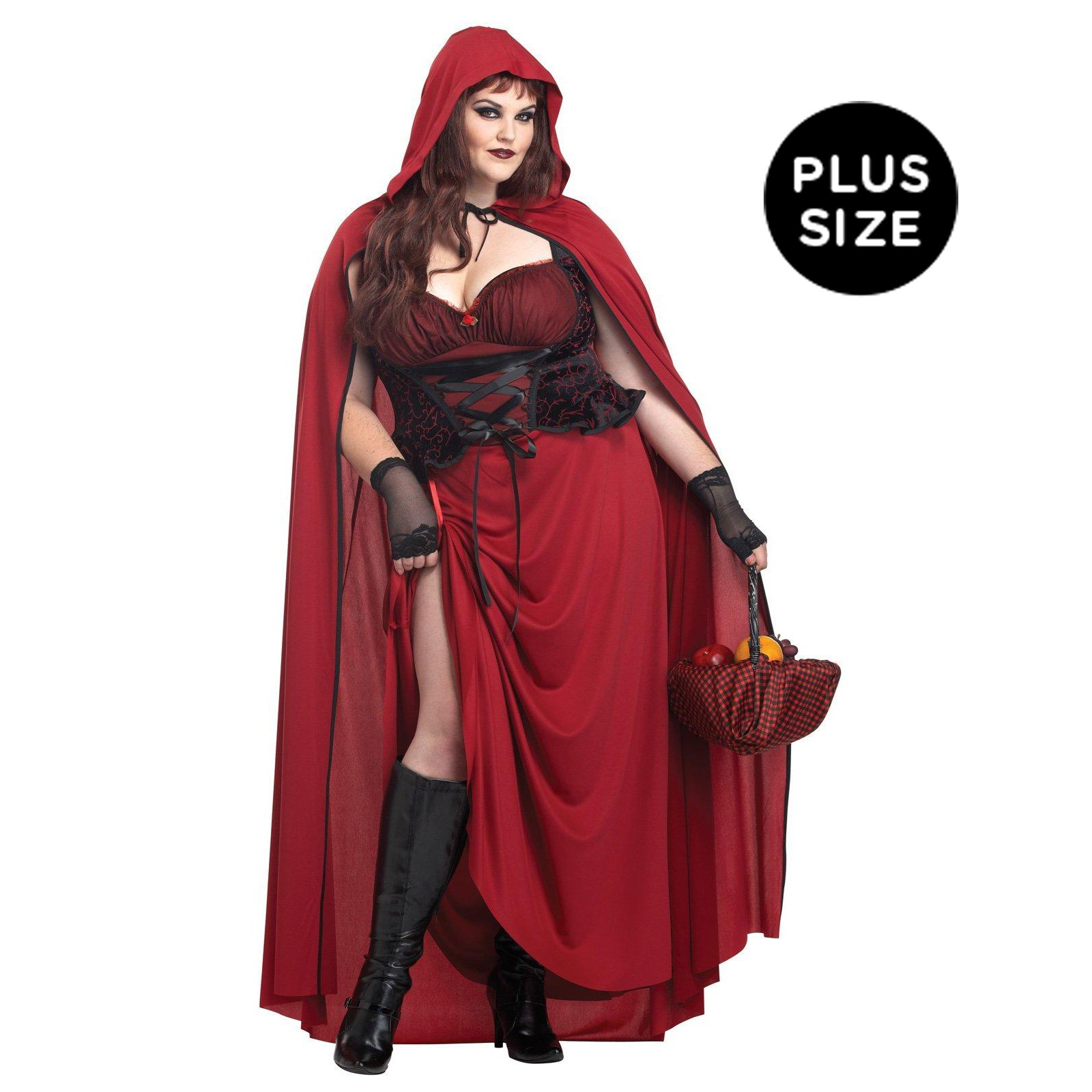 Dark Red Riding Hood Plus Size Costume | BuyCostumes.com