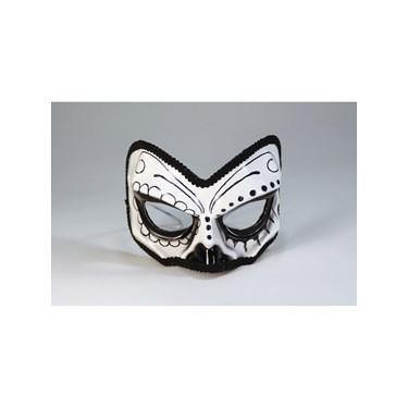 Day Of The Dead 1/2 Skull Mask
