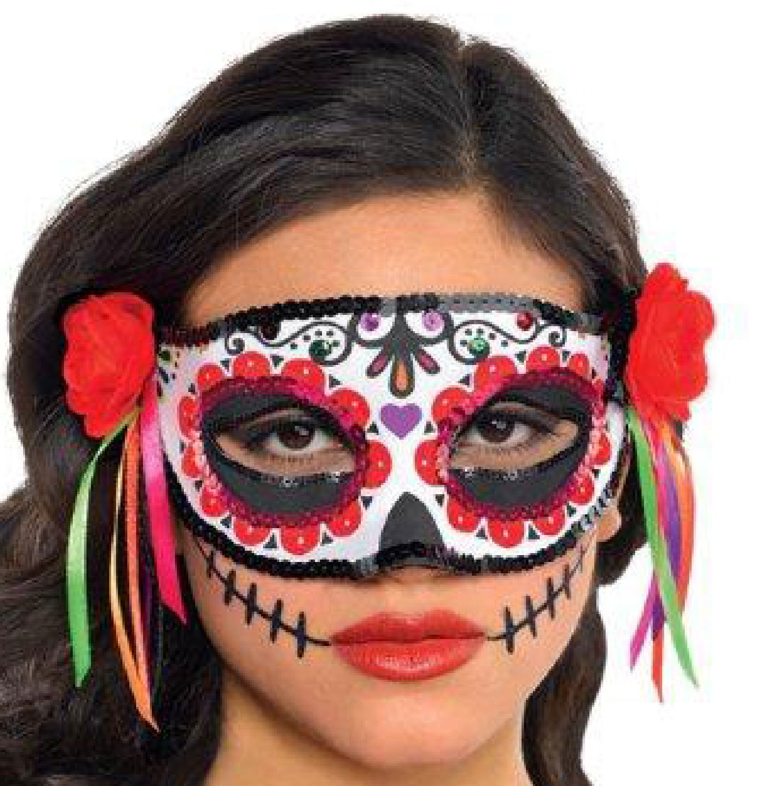 Day Of The Dead Adult Half Mask