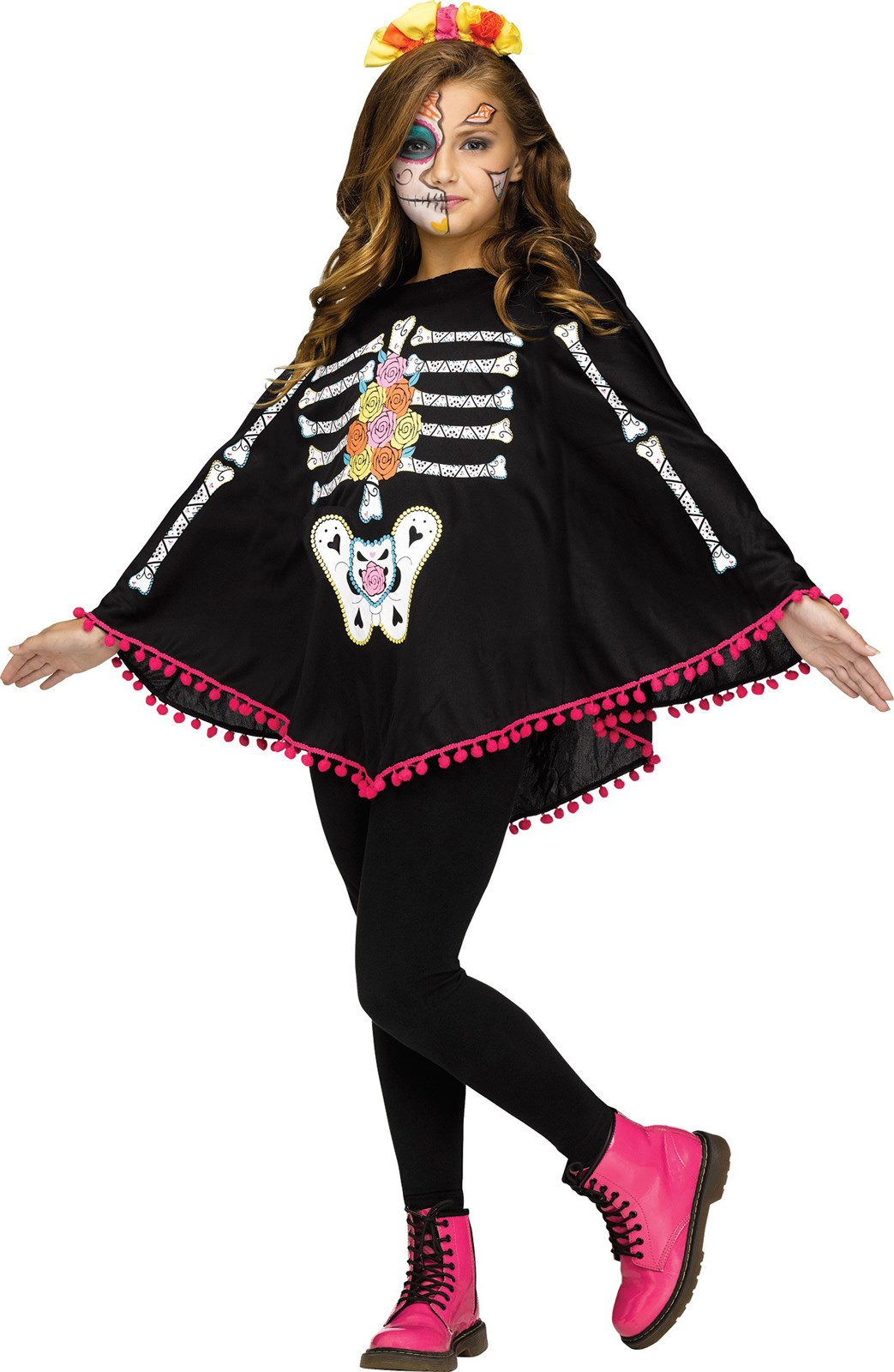 Day of the Dead Child Poncho Costume   BuyCostumes.com