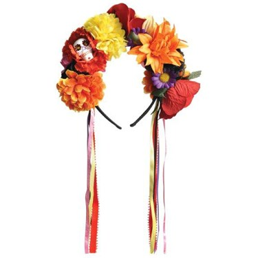 Day Of The Dead Flower Headpiece For Women