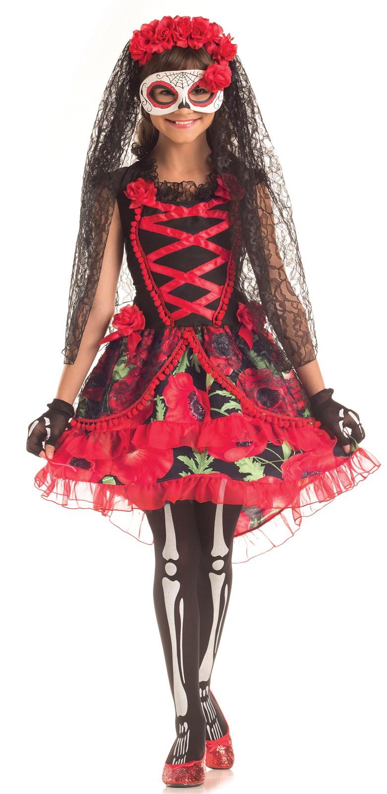 Day of the Dead Girls Senorita Costume