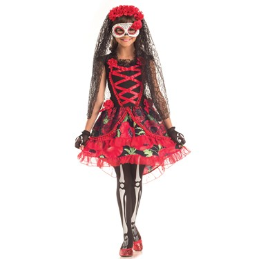 Day of the Dead Girls Senorita Costume