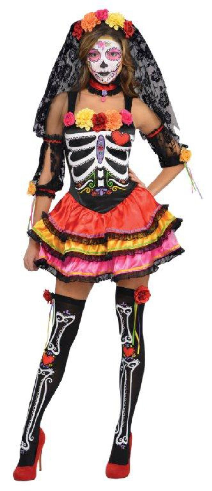 Day of the Dead Womens Seniorita Costume
