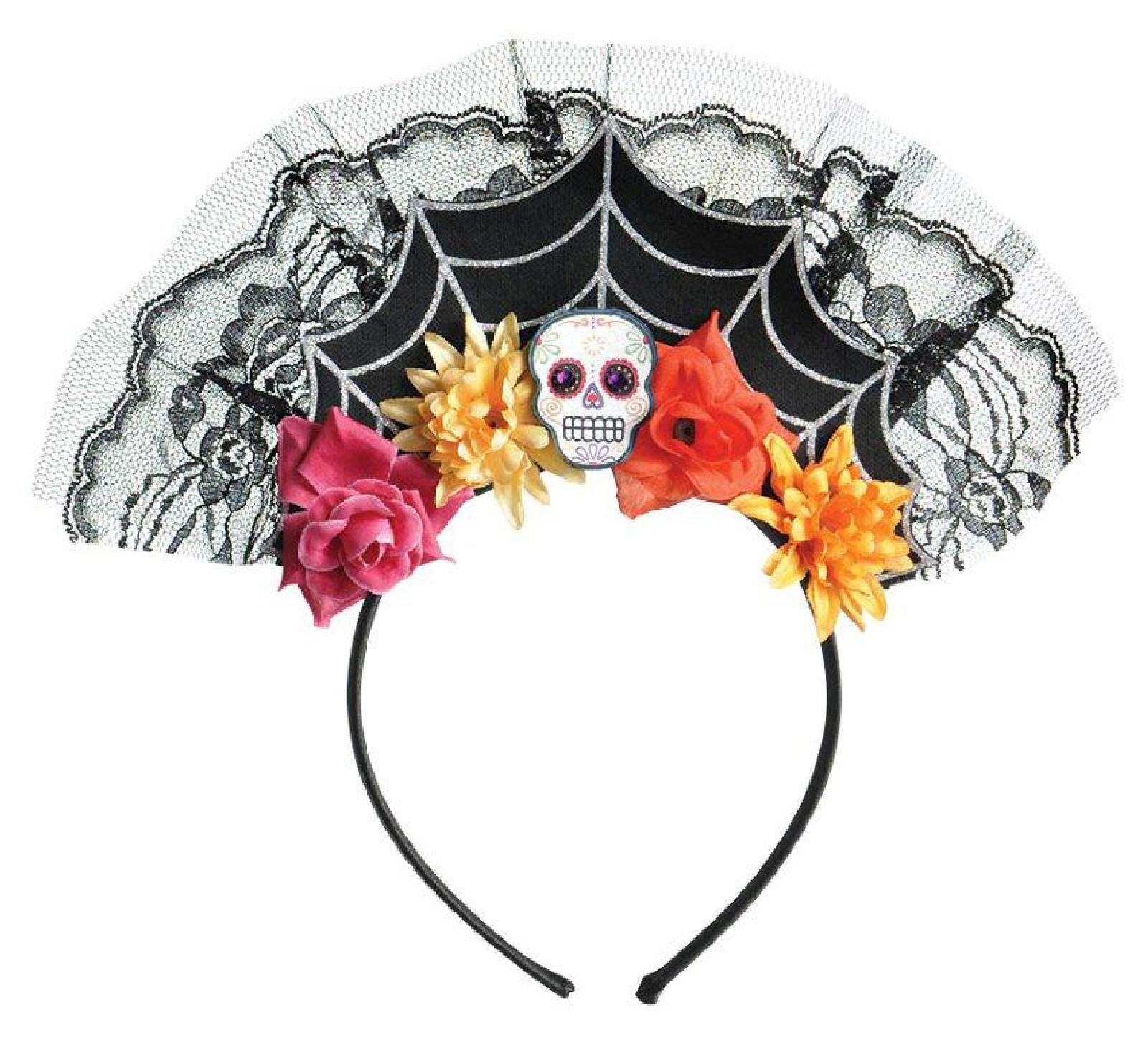 Day Of The Dead Womens Spiderweb Headband