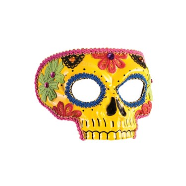 Day Of The Dead Yellow Mask