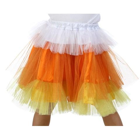 Deluxe Candy Corn Glitter Skirt
