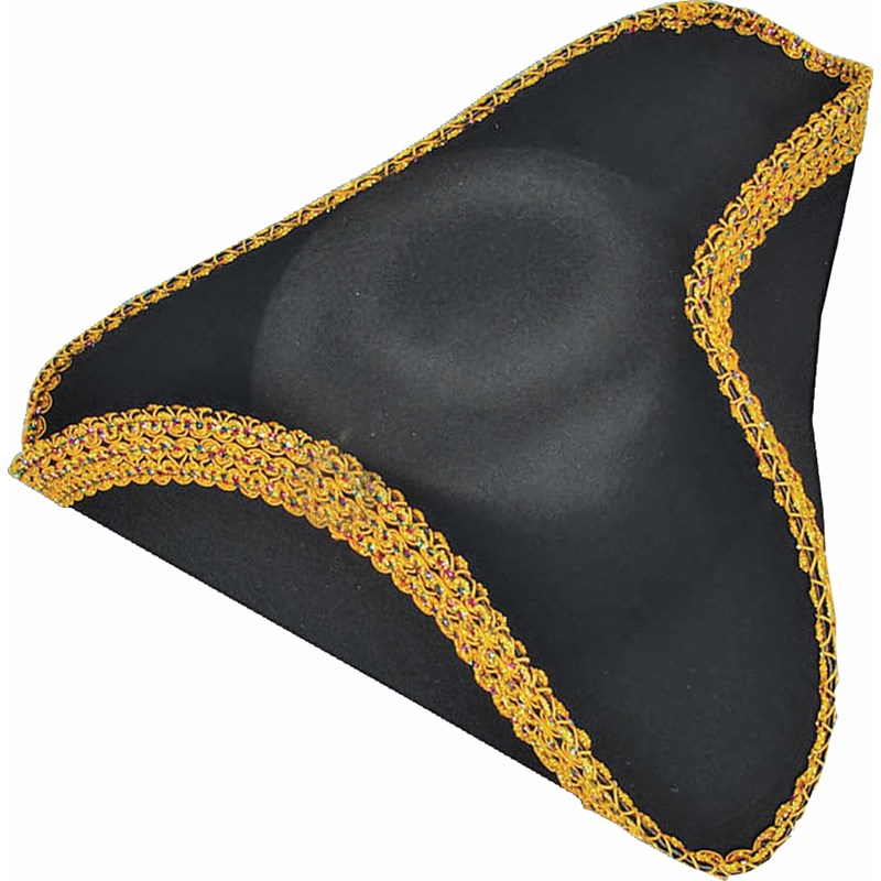 Deluxe Colonial Tricorn Hat