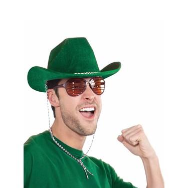 Deluxe Green Cowboy Hat