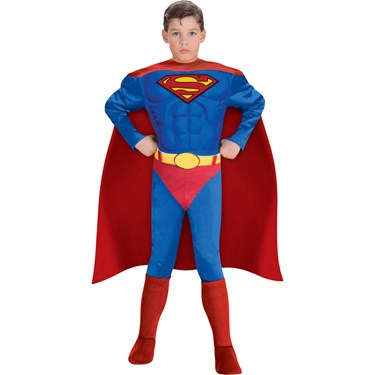 Deluxe Muscle Chest Superman Child Costume
