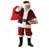 Deluxe Regency Crimson Adult Santa Suit