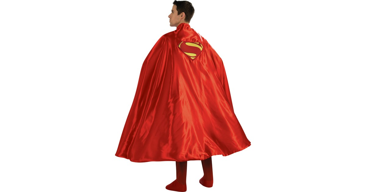 All superhero capes made with high quality satin, this is a double sided, vibrant 2-color Superhero cape with a heat transferred logo. These are Child Sized, ONE SIZE FITS MOST Capes. Capes measure approximately 25