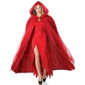 Devilish Red Adult Costume Cape