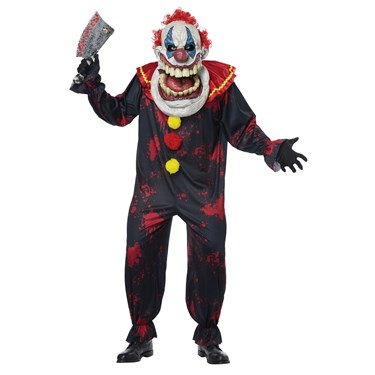 Die Laughing Big Mouth Clown Adult Costume