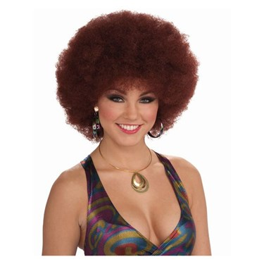Disco Afro Natural Red Unisex Deluxe Wig