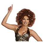 Disco Dollie Light Up Brown Mini Afro (Adult)
