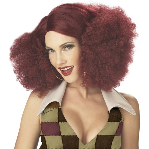 Disco Sensation (Burgundy) Adult Wig